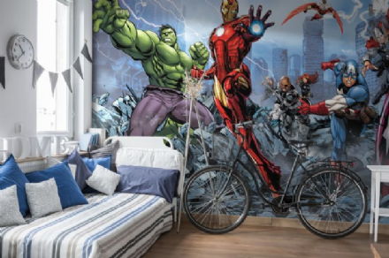 Wallpaper murals for boys room Avengers